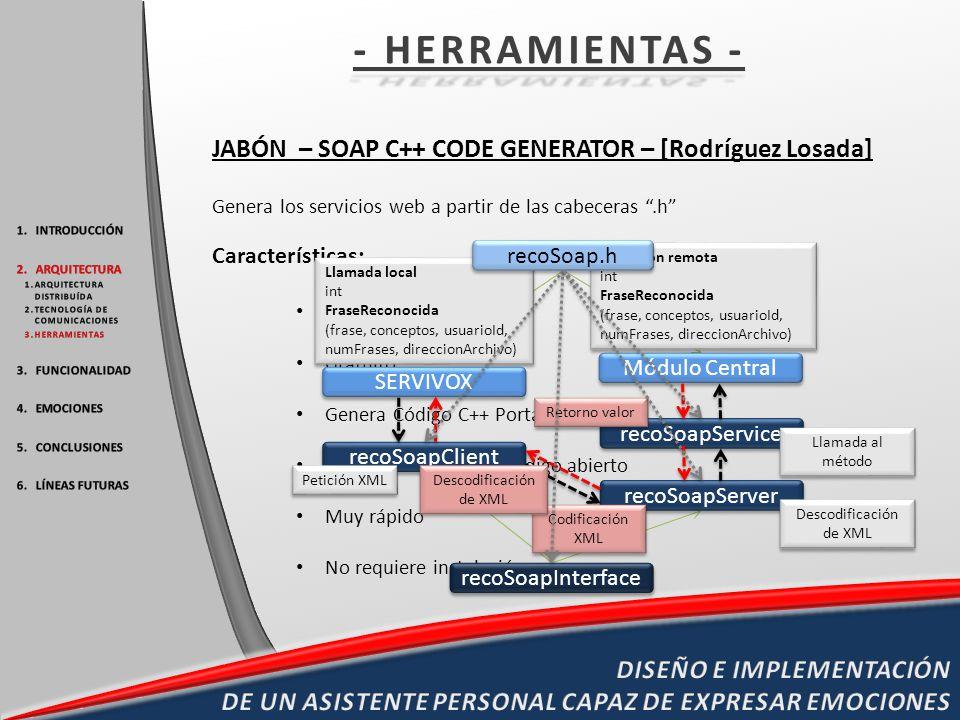 - HERRAMIENTAS - JABÓN – SOAP C++ CODE GENERATOR – [Rodríguez Losada]